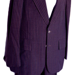 Vintage Pinstripe 2 Pc Suit Gray